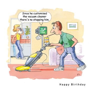 addition of funny Funny Birthday Cards material on the cards you and the